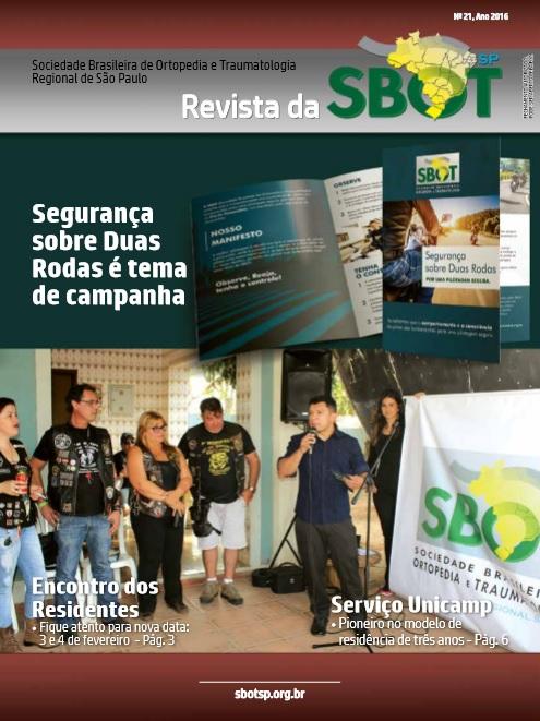 Revista SBOT-SP Ed. 21 – novembro 2016